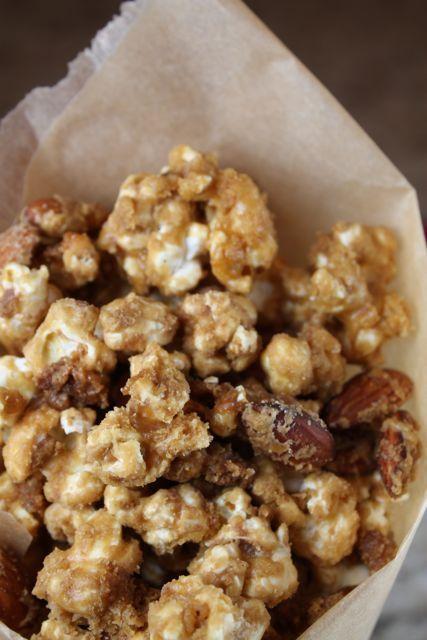 English Toffee Candy Corn - use plain microwave popcorn, almonds, heath bars - Pam Kewin-Lahache - Recipes Board