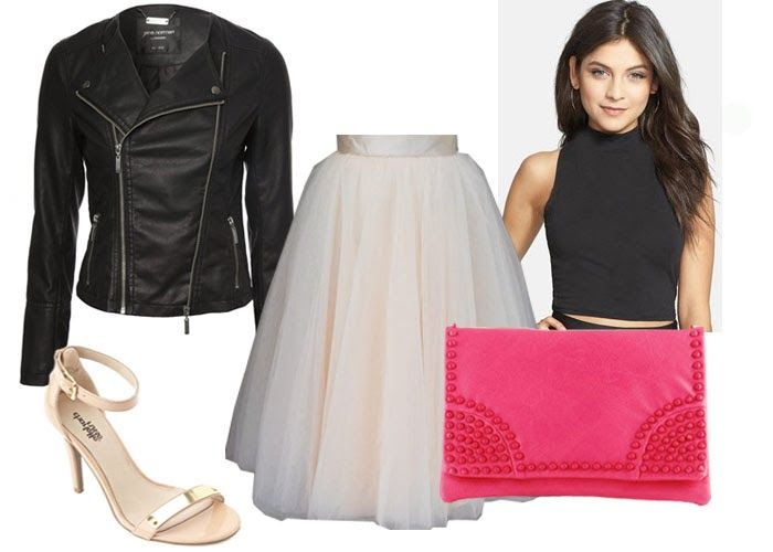 tulle midi skirt outfit