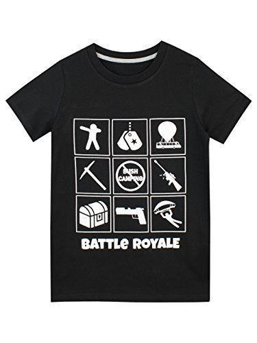 Fortnite Size 12 In Royale T BlackAmzn Battle 2019 Shirt Boys' TFK1lc3J