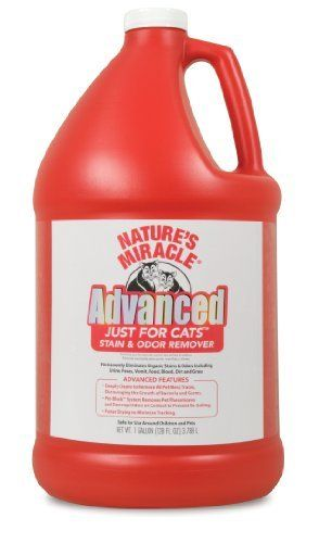 Nature's Miracle Just for Cats Advanced Stain And Odor Formula 128oz (Gallon) by Natures Miracle. $17.21. The most advanced Natures Miracle formula made for tough cat urine stains and odor which incorporates the best performing cleaning technologies. Deeply cleans to remove all pet mess traces, discouraging the spread of unsanitary pet waste. Pet-Block ™ System removes pet pheromones and destroys odors on contact to prevent re-soiling. Faster drying to minimize ...