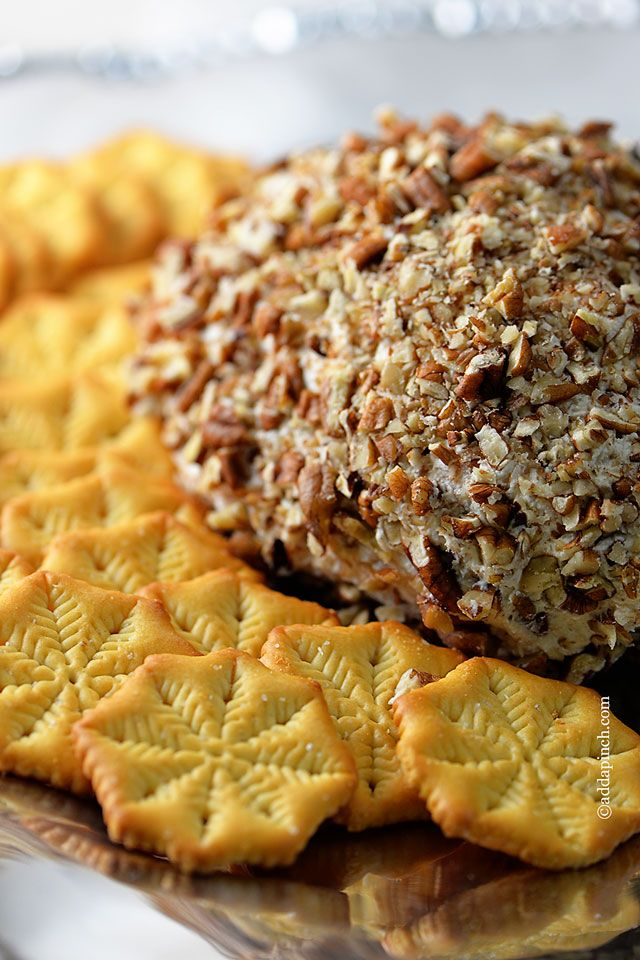 Chicken Cheese Ball Recipe from @addapinch | Robyn Stone