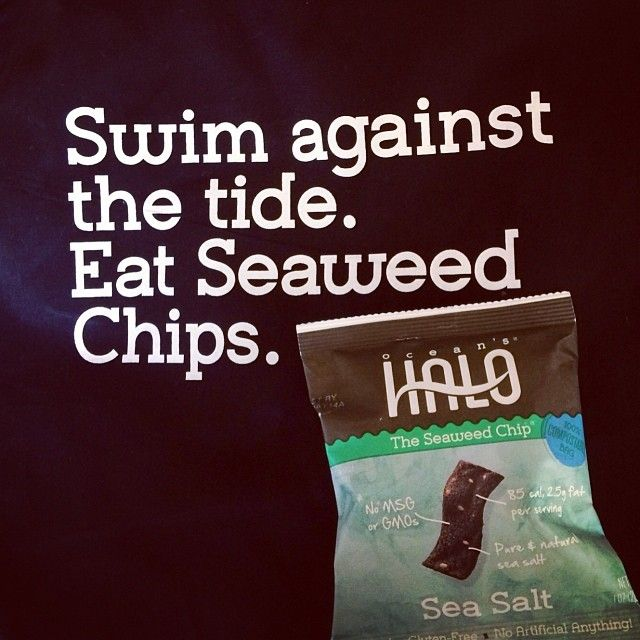 """From GEV Magazine """"One bag is not enough @Ocean's Halo seaweed chips #addicting #wffs14"""""""