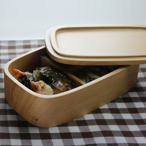 Durable-Wood-Tone-1-Tier-Bento-Lunchbox-Container-Food-Storage-Box-Wooden-Sushi