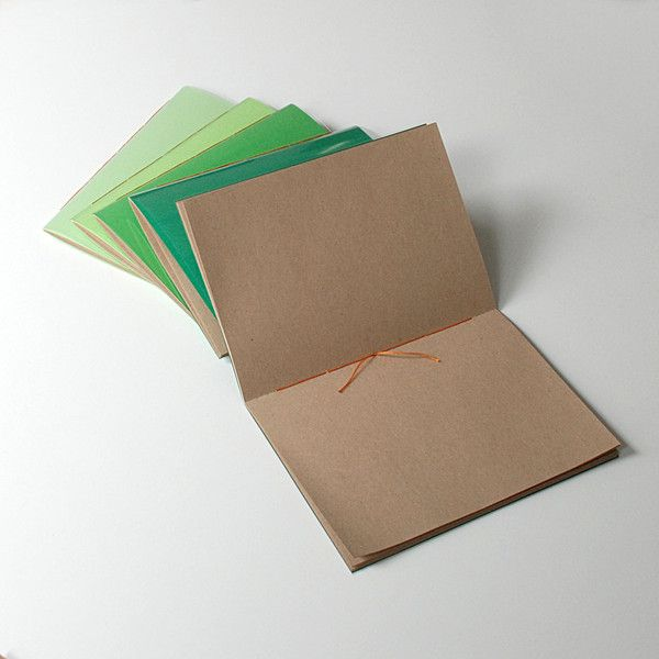 A5 – set of 5 notebooks with plexiglass cover A5 – a unique product by Kajet on DaWanda