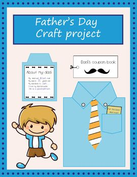 Father's Day craft projectDecorate the shirt and make a coupon book with these printables! Included are:- Instructions (one sheet)- Black and white templates (shirt, tie, pocket, buttons, card. medal and collar) (two sheets)- About my dad printable (one sheet)- Color templates (shirt, tie, pocket, buttons, card, medal and collar) (two sheets)- Coupon book (color - one sheet)- Coupon book (black and white - one sheet) - Blank coupons (color - one sheet)- Blank coupons (black and white - one sh...