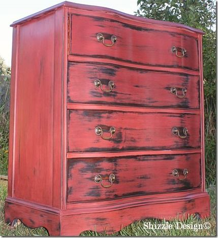 Sedona red with Virginia chestnut glaze, wax, Shizzle Design CeCe Caldwell&  ideas colors Michigan for sale painted furniture Michigan 2 - Best 25+ Painted Furniture For Sale Ideas On Pinterest Furniture