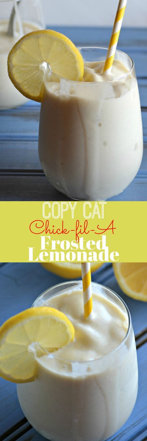 If you thought nothing could beat an ice cold glass of refreshing lemonade on a hot day, you thought wrong. A tall glass filled to the chilled brim with this Copy Cat Chick Fil A Frosted Lemonade is the frozen treat the Doctor should have ordered.