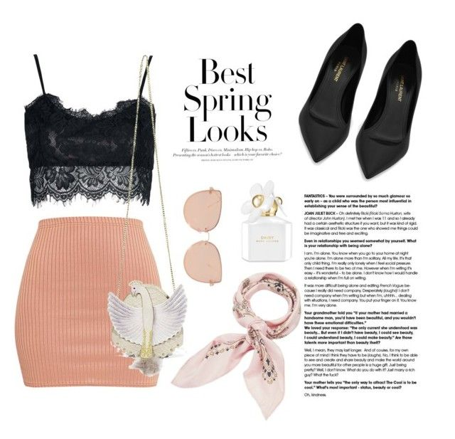 """""""Cool for Spring!"""" by hielya-amelia on Polyvore featuring Yves Saint Laurent, Topshop, Manipuri, H&M and Marc Jacobs"""