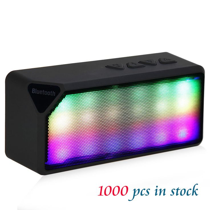 X3S Mini wireless bluetooth speaker with microphone Led stereo Speaker with LED light TF FM Radio Mic MP3 Virtual Surround //Price: $13.18     #device