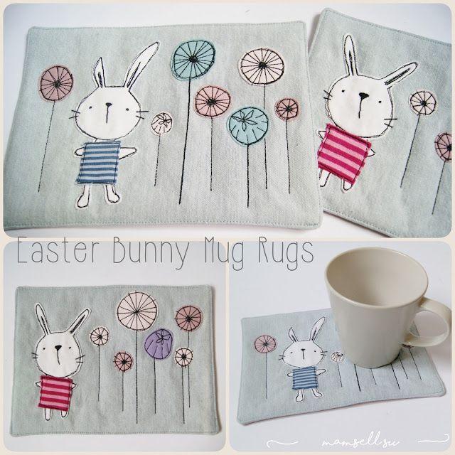 Easter Bunny Mug Rugs