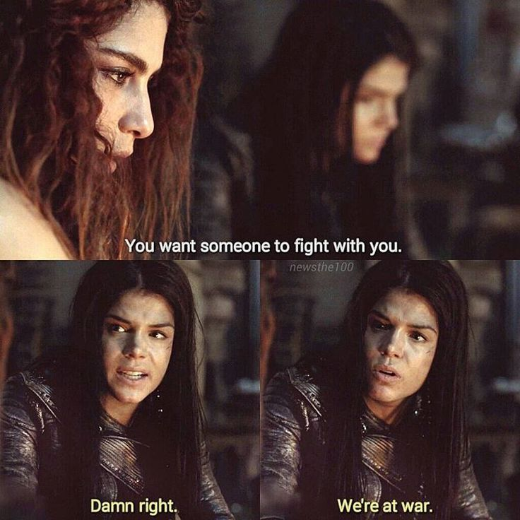 "#The100 3x14 ""Red Sky at Morning"" - Luna and Octavia"