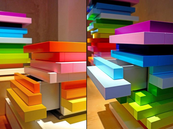 Storage Pieces As Art    These Storage Units Are Called Mille Feuille, And  They Are By Emmanuelle Moureaux And German Furniture Company, Schönbuch.