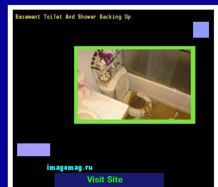 Basement Toilet And Shower Backing Up 133413 - The Best Image Search