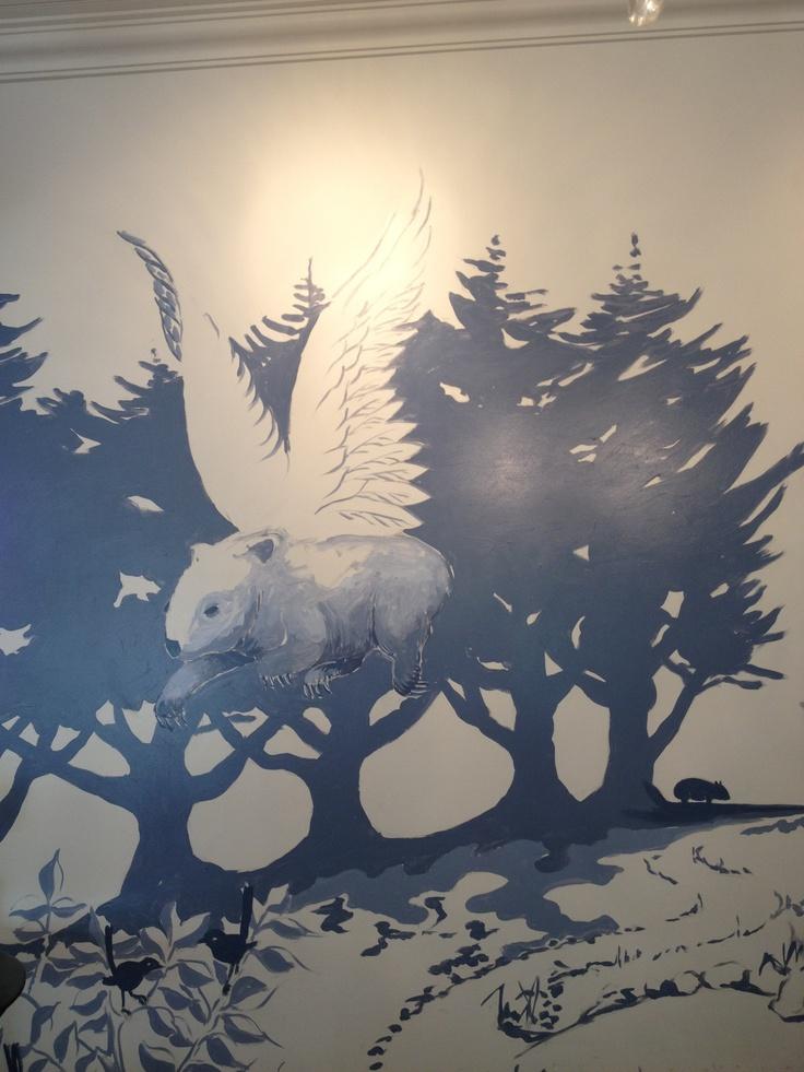 Allan Wolf-Tasker's mural at wombat hill house Daylesford