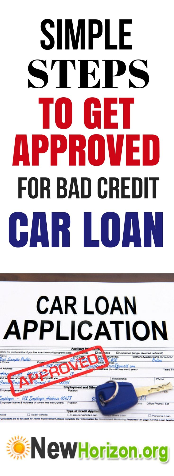 If you want to apply for a bad credit car loan, taking advanced preparations is important to ensure your approval. What can you do to avoid getting rejected on your car loan? Below are practical steps that should not be overlooked.