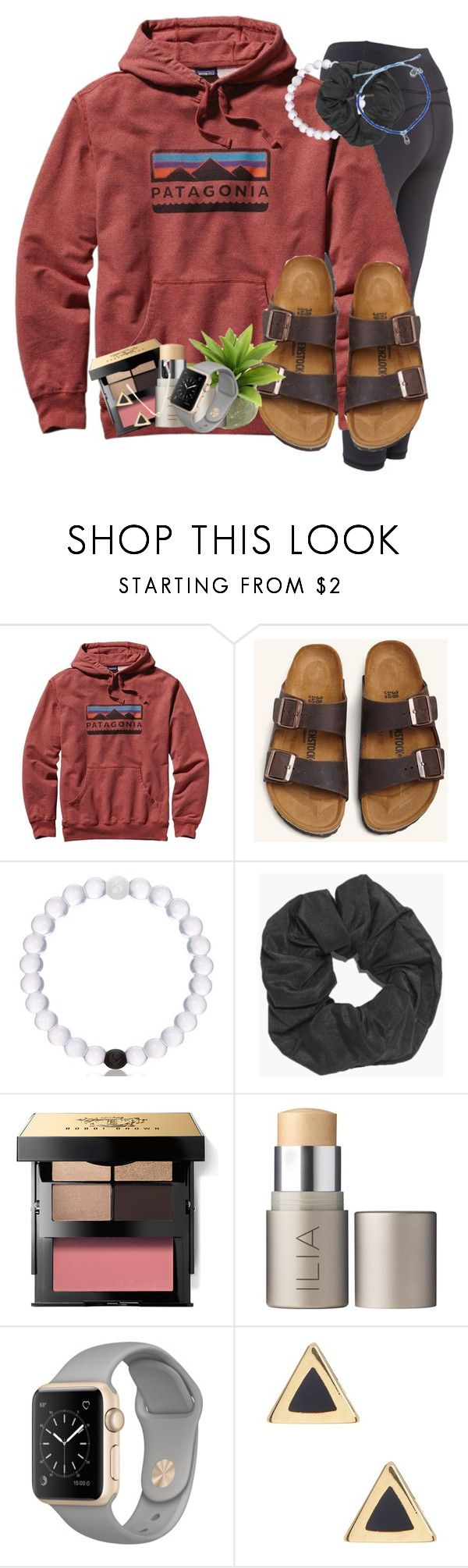 """☀️️"" by livnewell ❤ liked on Polyvore featuring Patagonia, Birkenstock, Boohoo, Bobbi Brown Cosmetics, Ilia and Ariella Collection"