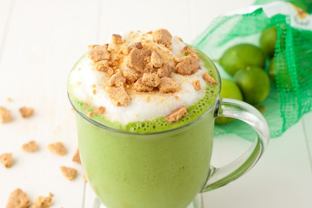 Key Lime Green Smoothie vegan and gluten free, etc. just nummy and