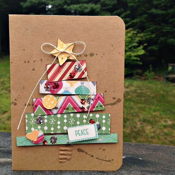 Kristine Davidson, Christmas tree, use CTMH paper and would be so cute