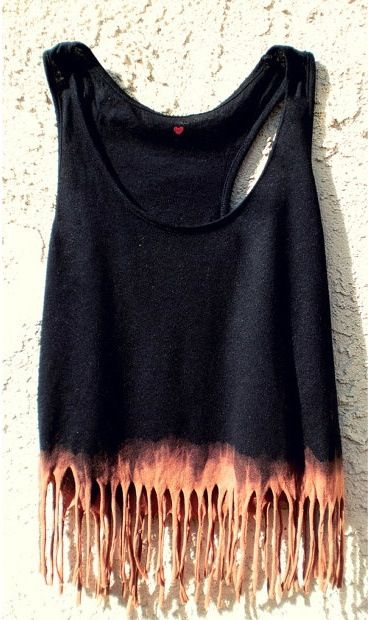I'm not a big fan of fringed tanks but I'd love to bleach some things for summer.