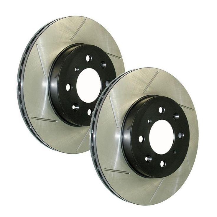 Powerslot Slotted Rotors Rear Pair Subaru WRX 08-14