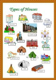 English teaching worksheets types of houses houses for Different kinds of houses