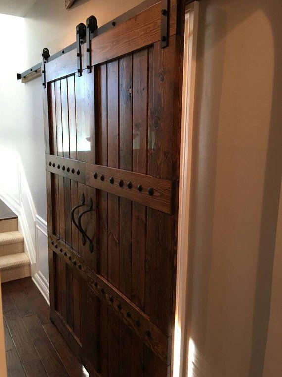 Knotty Pine Double Barn Door Package Double Barn Doors