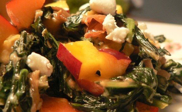 Goat cheese Creamed Dandelion Greens. Now is the time of season! Go ...