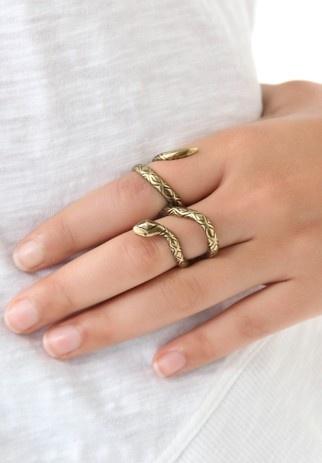Snake Double Finger Ring