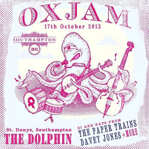 We're playin' as a duo (Si & Nats) at an Oxjam gig TONIGHT at The Dolphin, St. Denys. Lineup: 9pm Eva Pemberton, 9:40 Johnny Two Hats, 10:20 Si & Nats. Yep, it's a cheeky Thurs night musical jamboree :)
