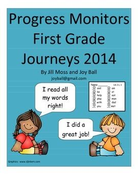 Journeys 2014 First Grade Progress Monitors Monitoring a child's progress with the high frequency and spelling words is easy with these progress monitor sheets for each of the 30 lessons in the Houghton Mifflin Harcourt Journeys First Grade reading series.