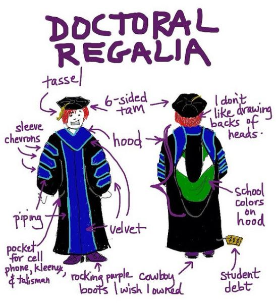 Doctoral Regalia Comic