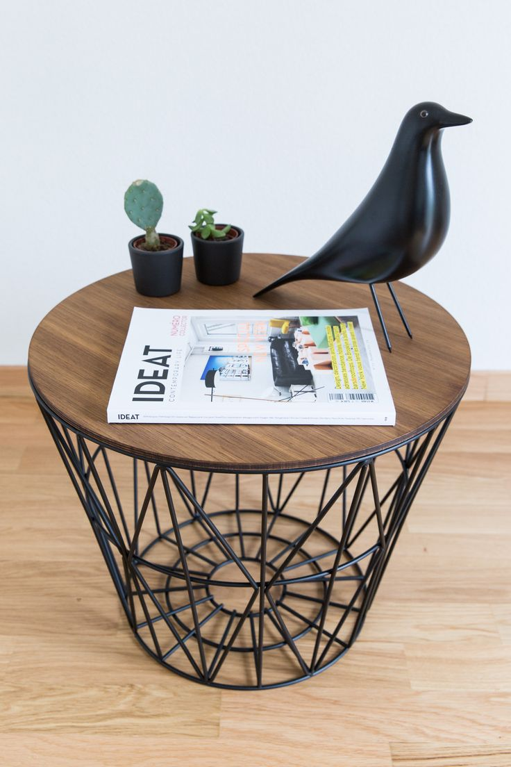 Ferm Living Wire Basket As A Side Table 70percentpure X