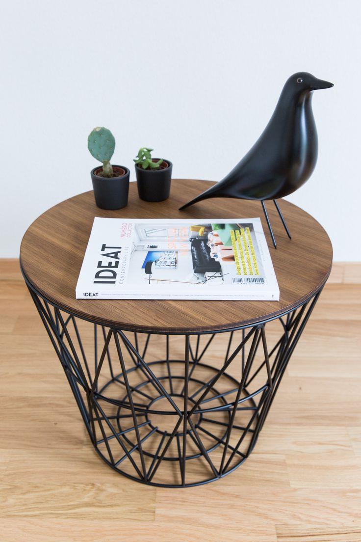 ferm living wire basket as a side table // 70percentpure x ezisliving