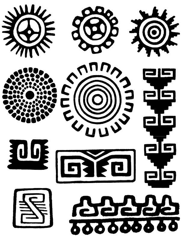 simbolos mayas - Google Search                                                                                                                                                                                 Más
