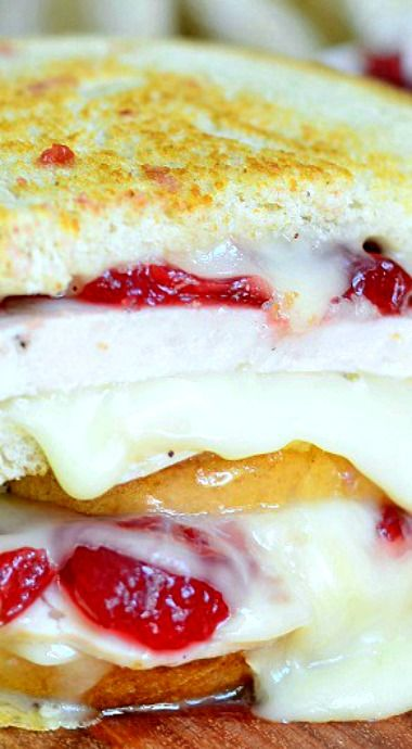 Turkey Cranberry Brie Grilled Cheese   FOOD!   Pinterest