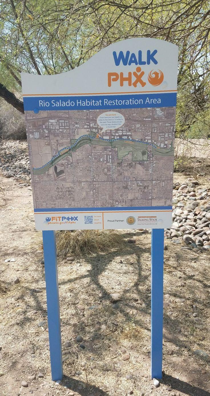 Rio Salado has many trails along the Habitat Restoration Area