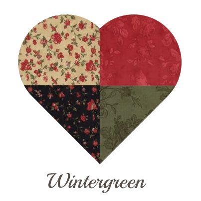 Yosonline Quiltstoffen / Quilt Fabrics - Wintergreen