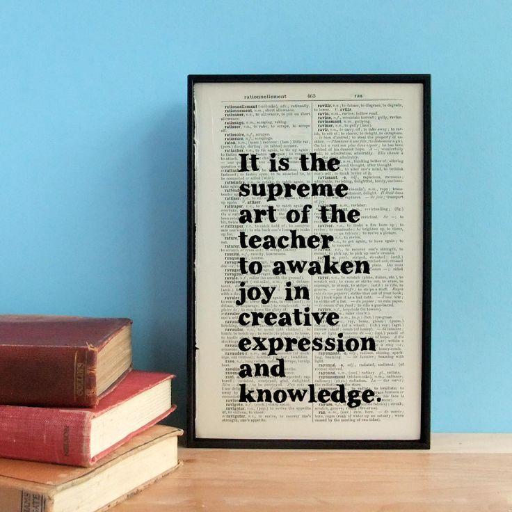 hardtofind. | Teacher gift Einstein quote print