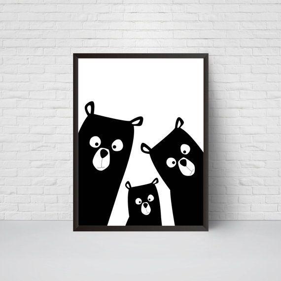 Supporter la pépinière familiale Print ours Art par EVEprints