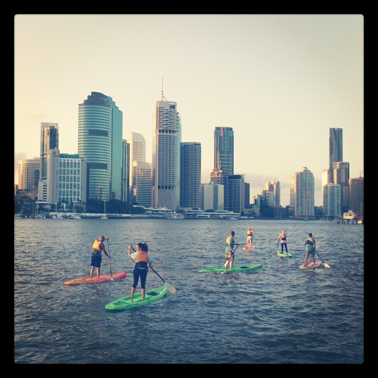Standup Paddle Boarding. Brisbane River & CBD