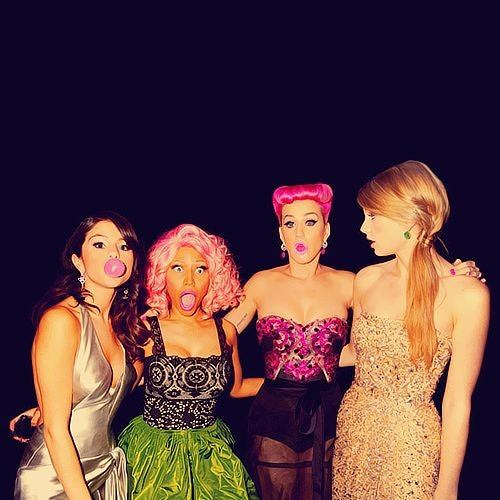 Love this picture; Selena Gomez, Nicki Minaj, Katy Perry, and Taylor Swift