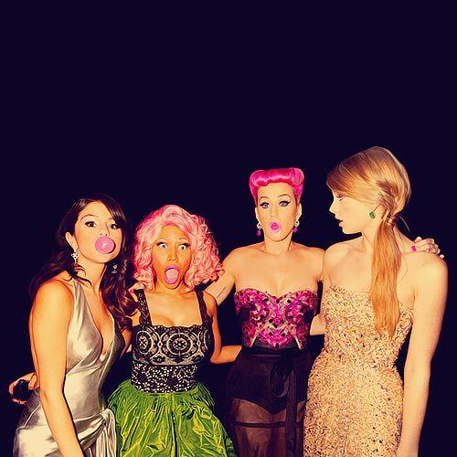 Love this picture; Selena Gomez, Nicki Minaj, Katy Perry, and Taylor Swift