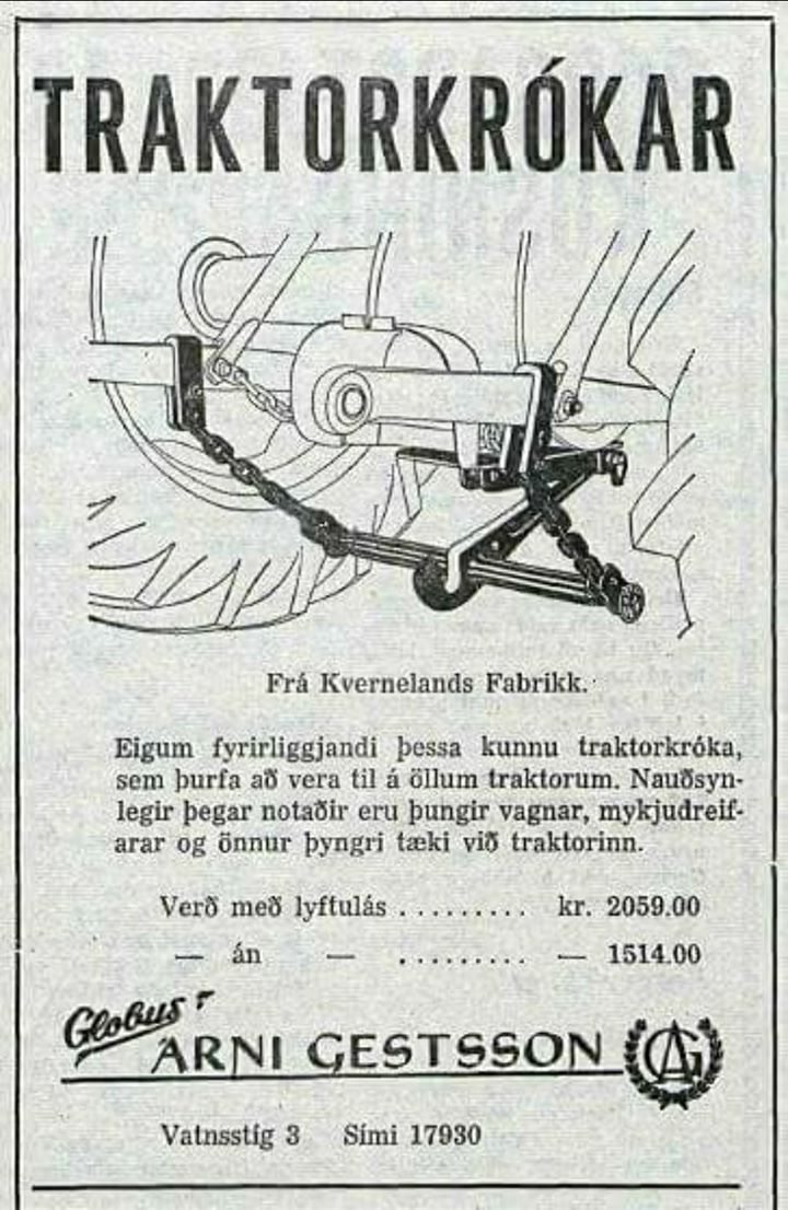 Icelandic ad for Norwegian produced trailer hitch.