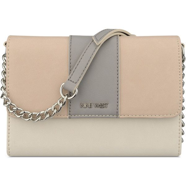 Nine West Aleksei Crossbody Bag (533.320 IDR) ❤ liked on Polyvore featuring bags, handbags, shoulder bags, cashmere multi, nine west handbags, faux-leather handbags, zip shoulder bag, brown cross body purse and zip purse