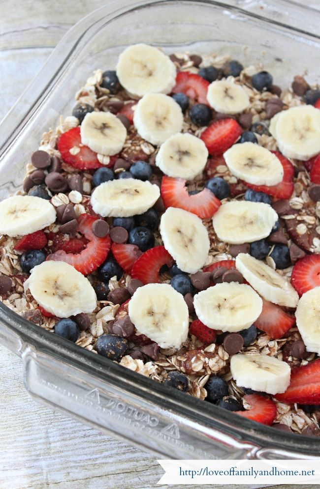 Baked Oatmeal Casserole...convenient and healthy.