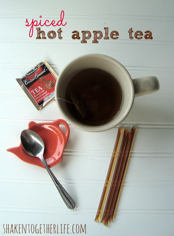 Spiced hot apple tea ~ the perfect warm Fall drink ...