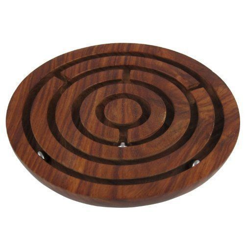 Labyrinth Board Game Ball in Maze Board Game  Wooden Board Game Labyrinth Game Home Dcor  Dia 4 * Click image to review more details.