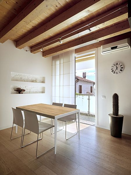UP2U kitchen table. Size: 160x90. Colour: Natural. Leg type: CUT. Leg colour: White. - www.miloni.pl/en MILONI: wooden table, oak table, natural wood table, table design, furniture design, modern table