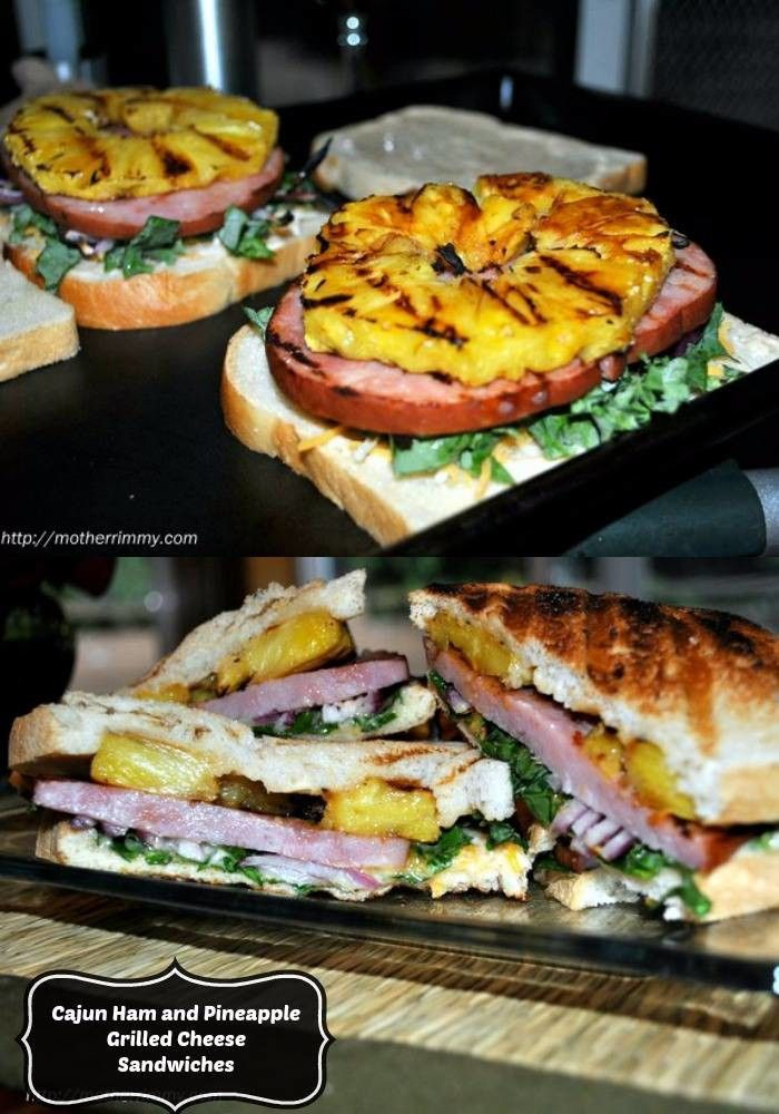 Ham and Pineapple Grilled Cheese Sandwiches