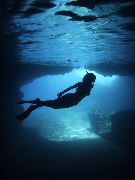 Me Swimming in Blue Cave - Tanna Island, Vanuatu